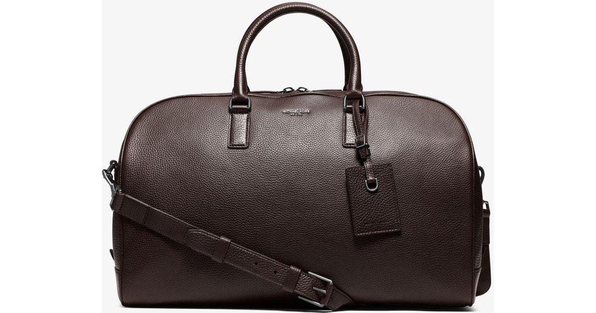 5cd4e418f933 ... new zealand lyst michael kors bryant large leather duffel bag in black  for men 9db54 0877d