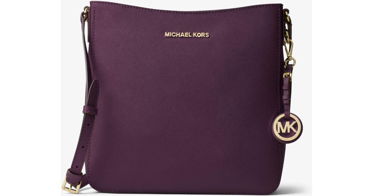 9274c8011a21 Lyst - Michael Kors Jet Set Travel Large Saffiano Leather Crossbody
