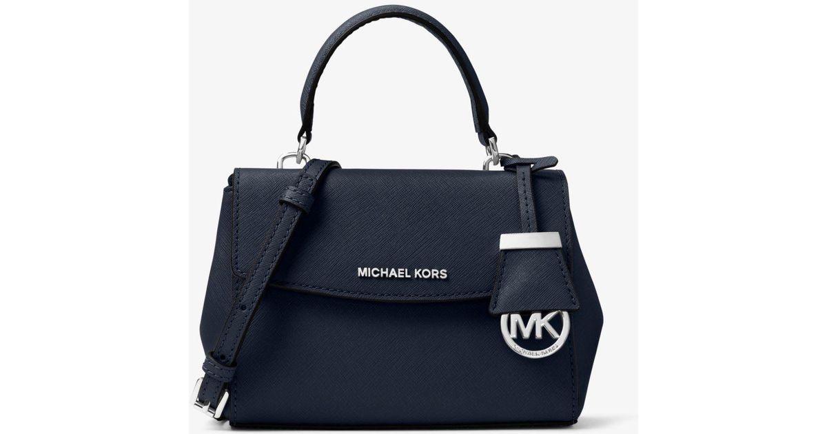 Très petit sac à bandoulière Ava en cuir saffiano MICHAEL Michael Kors en  coloris Blue