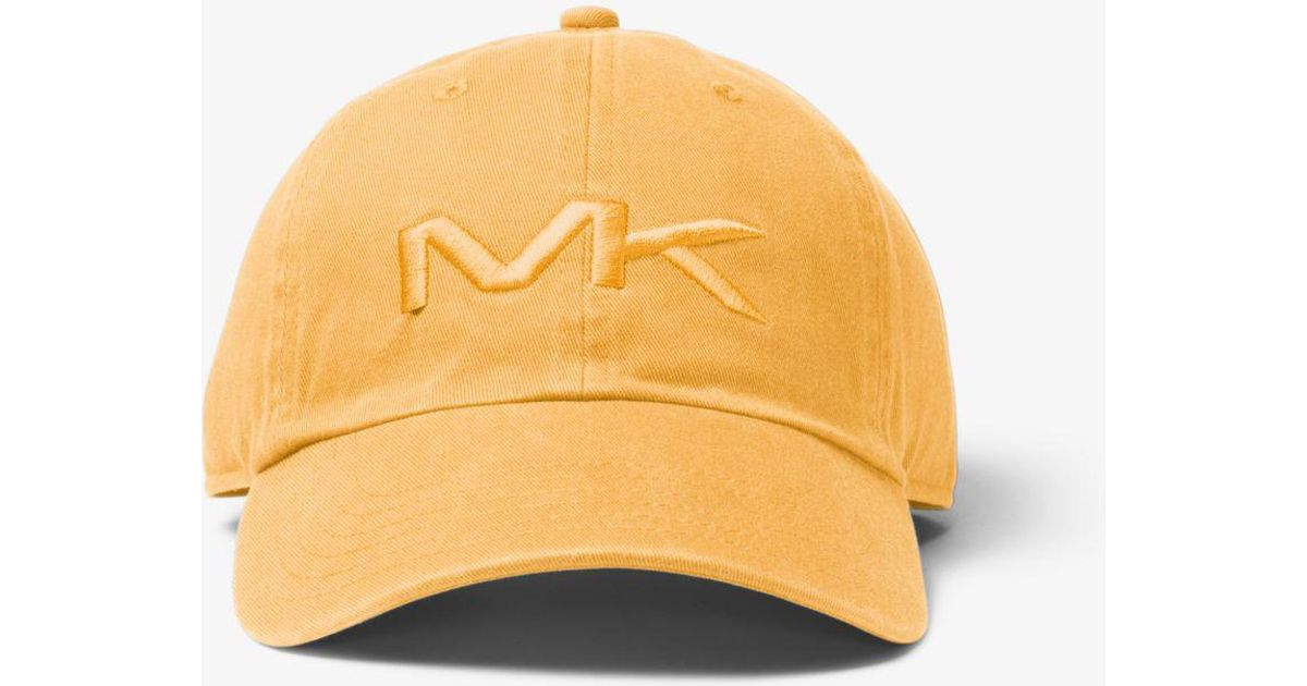 201edc90ca7 Lyst - Michael Kors Logo Cotton Baseball Hat in Yellow for Men