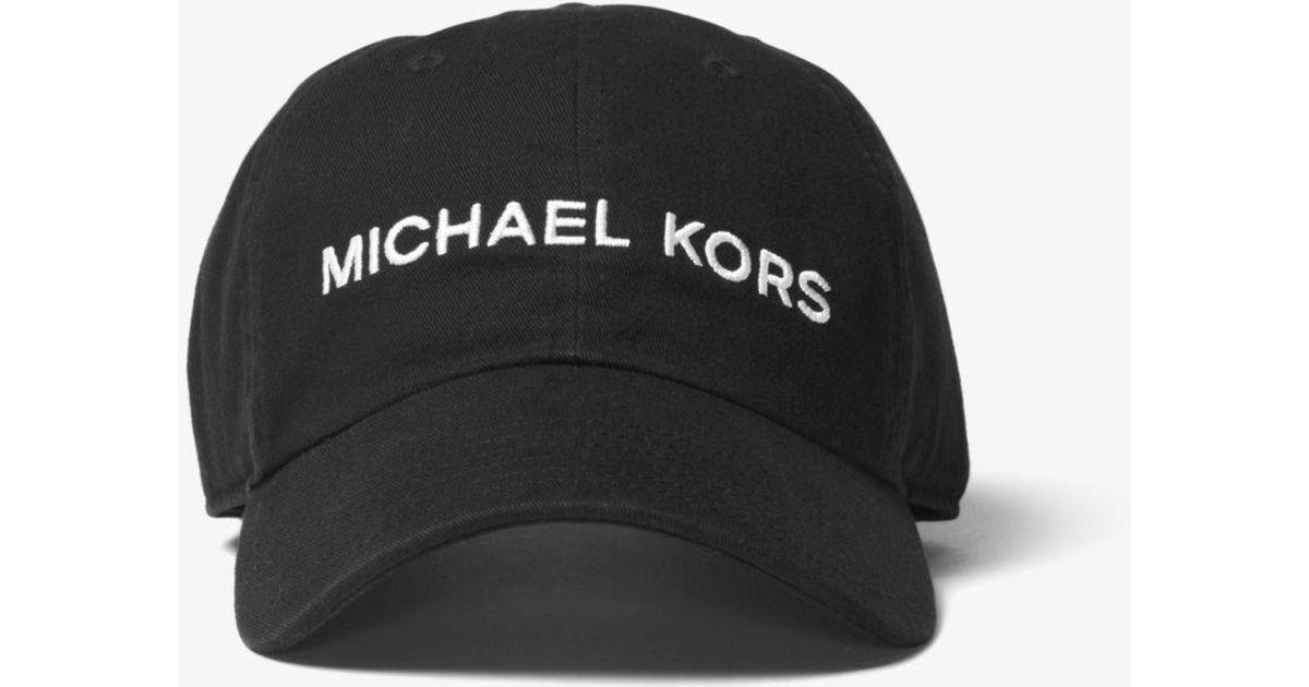 605548546d9 Lyst - Michael Kors Logo Cotton Cap in Black for Men