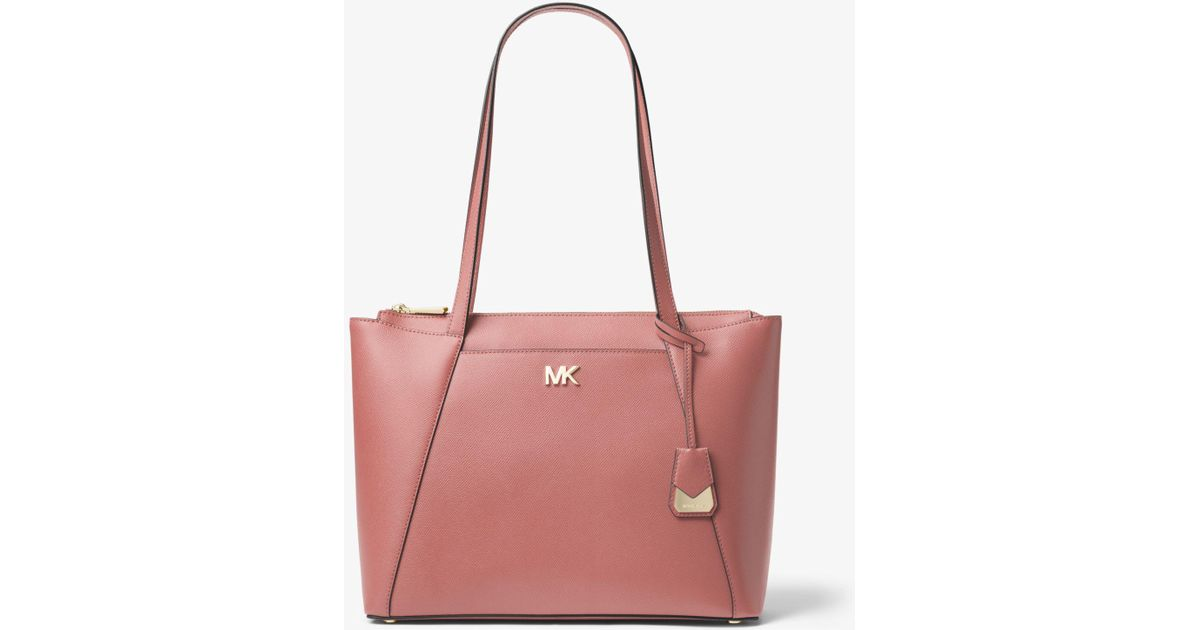 8d5b9347850d Lyst - Michael Kors Maddie Md Ew Tz Tote Rose in Pink