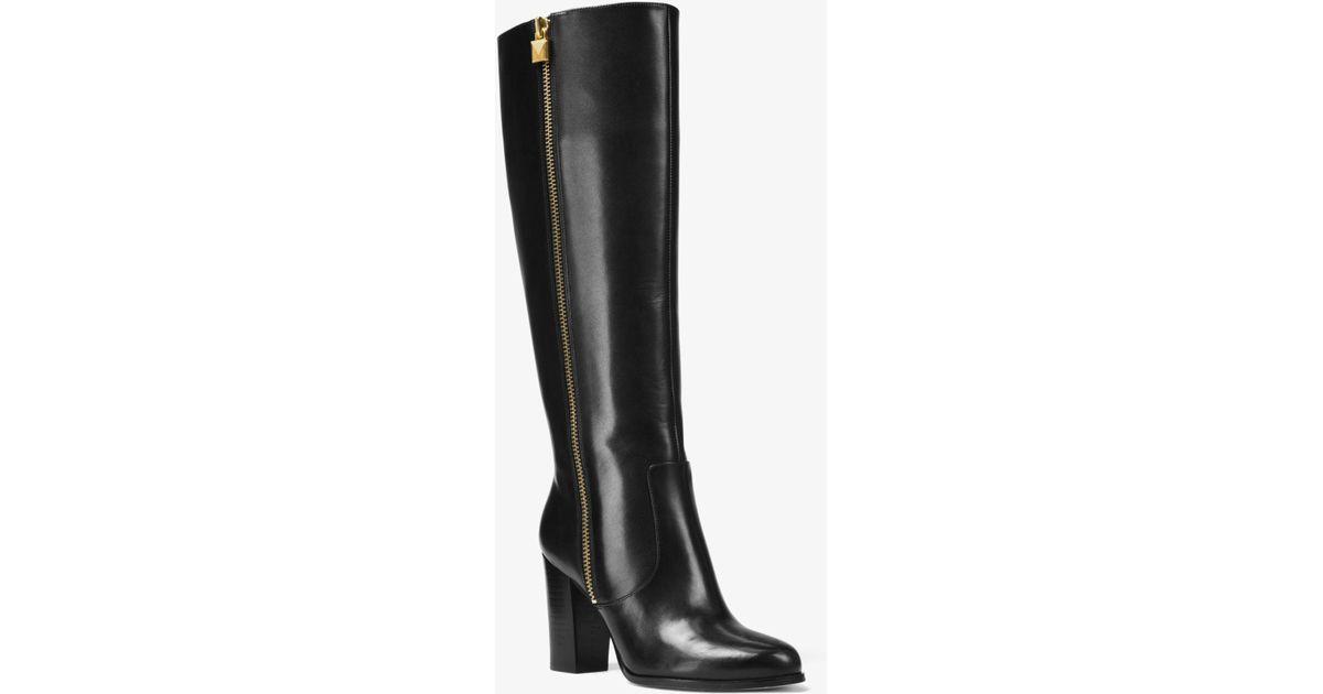 e3fce3b1479 Michael Kors Black Margaret Leather Boot