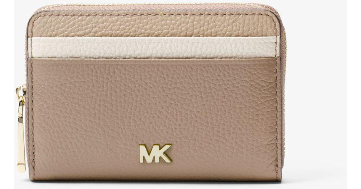 1c920853e103 Michael Kors Small Color-block Pebbled Leather Wallet - Lyst