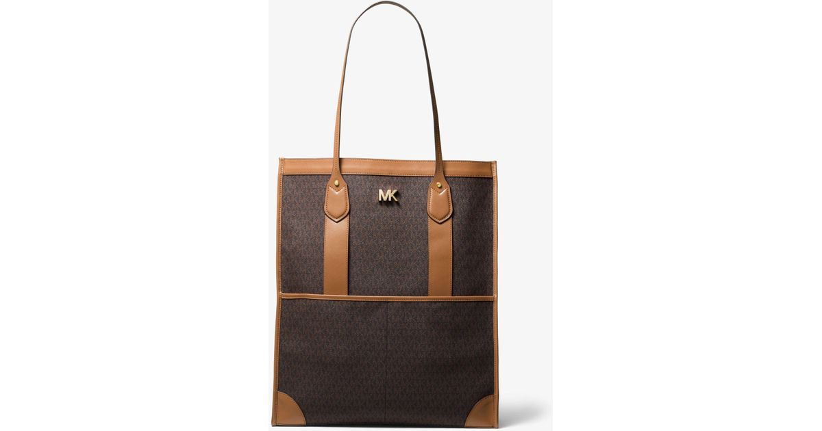 e8d625342179c Lyst - Michael Kors Bay Extra-large Logo Tote Bag