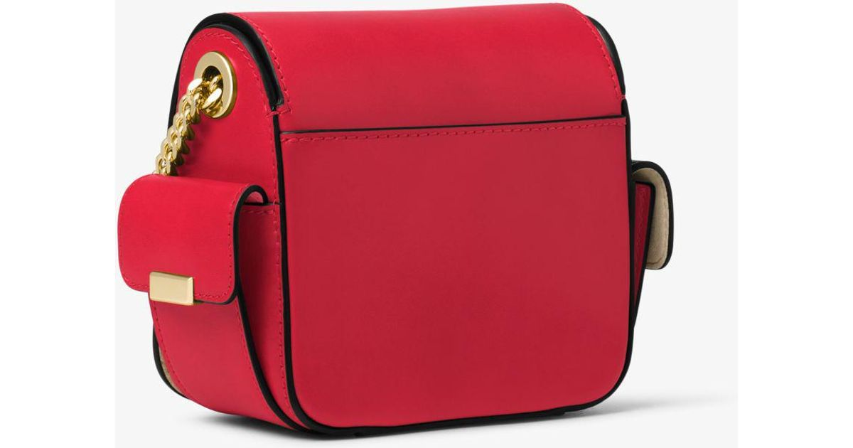 b39b9eb214ba Michael Kors Scout Medium Leather Camera Bag in Red - Lyst