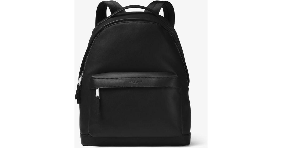 62e575cf338f Michael Kors Odin Leather Backpack in Black for Men - Lyst