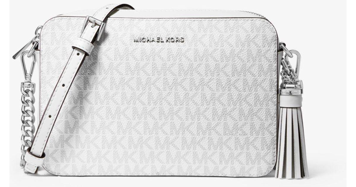 5caadaddbd85 Michael Kors Ginny Medium Logo Crossbody Bag - Lyst