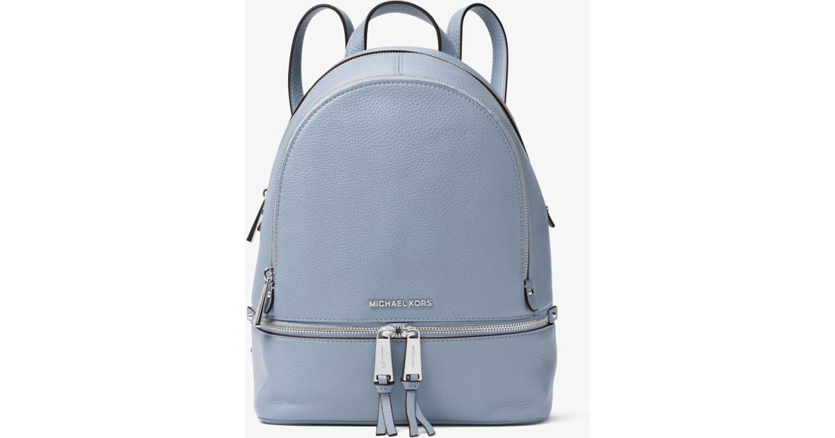 a4a3ae7edf7df6 Michael Kors Rhea Medium Backpack in Blue - Lyst