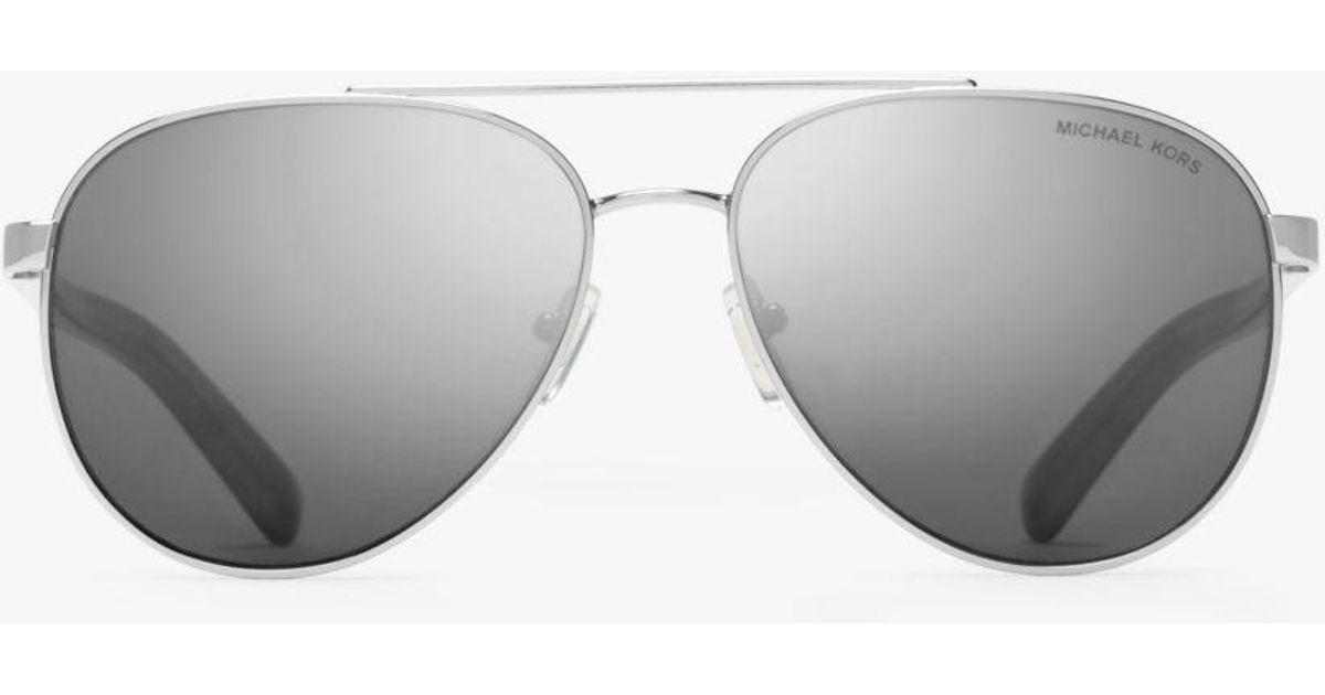 e18bbdcc31a7a Michael Kors Jax Sunglasses in Metallic - Lyst