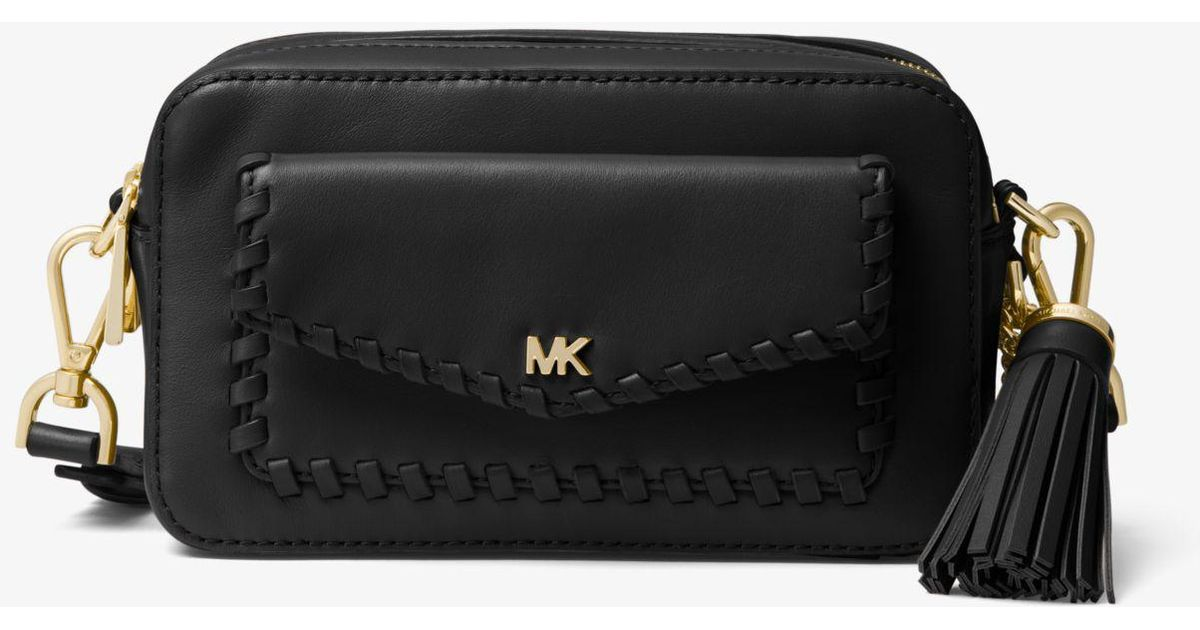 51e0f90f6d29 Lyst - Michael Kors Small Pebbled Leather Camera Bag in Black - Save 51%