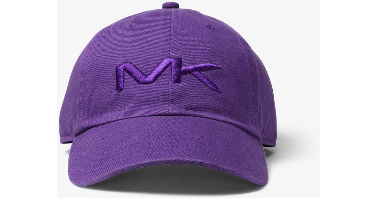 5f24fd8887d Lyst - Michael Kors Logo Cotton Baseball Hat in Purple for Men