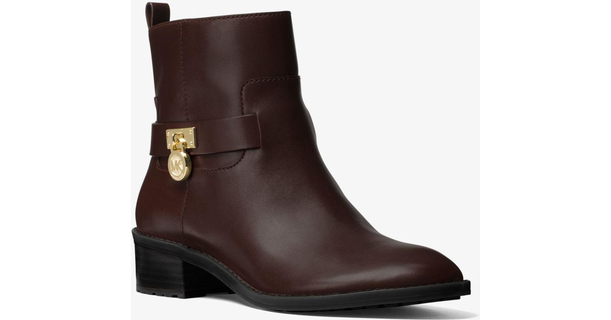 Michael Kors Ryan Leather Ankle Boot in
