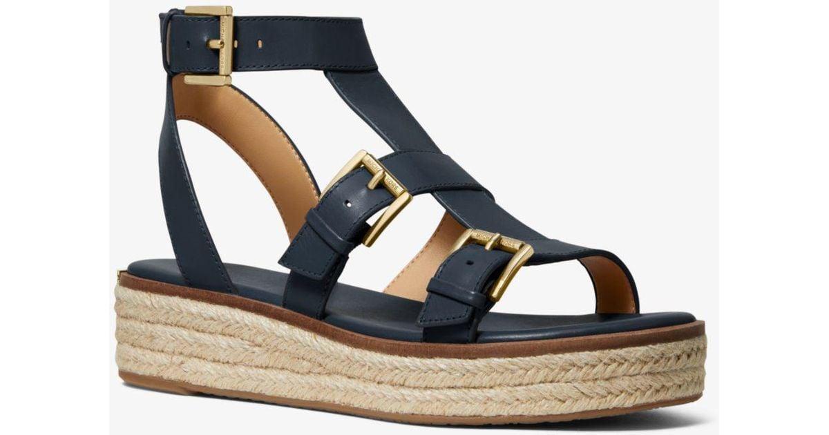 Michael Kors Cunningham Leather Sandal