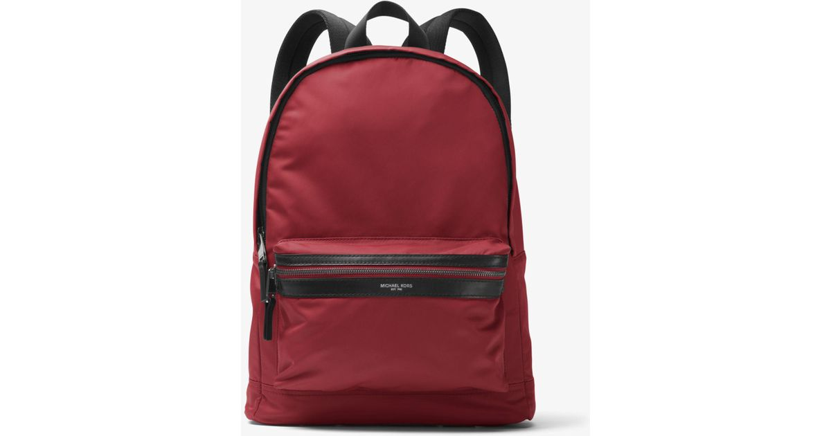 d89dc7d8f5c6 Michael Kors Kent Nylon Backpack in Red for Men - Save 26% - Lyst
