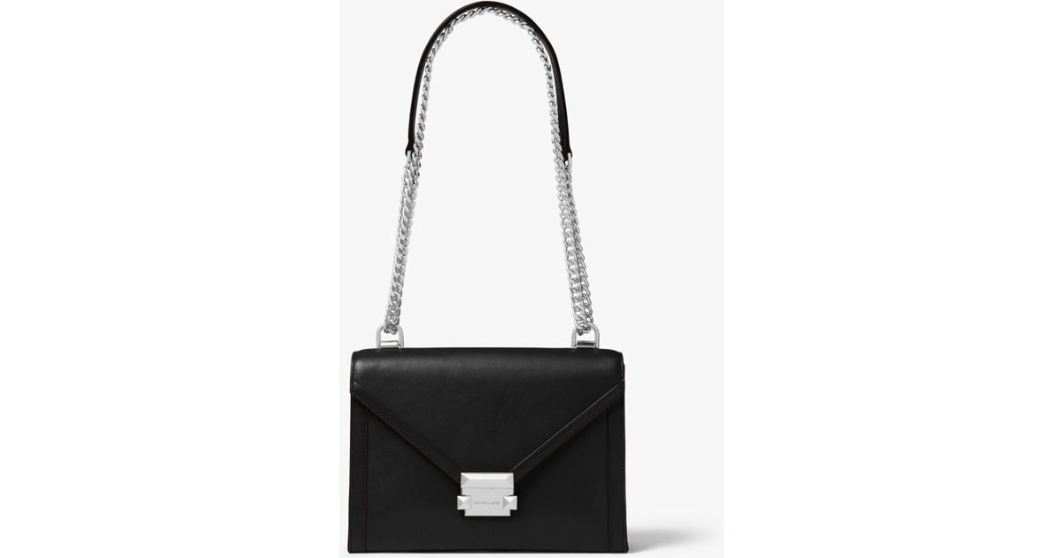 59706e04173c0 Michael Kors Whitney Large Leather Convertible Shoulder Bag in Black - Save  2% - Lyst