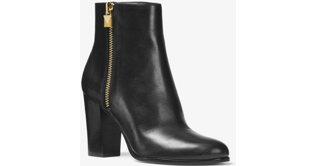 uk availability new arrivals competitive price MICHAEL Michael Kors Frenchie Vachetta Leather Ankle Boot in Black ...