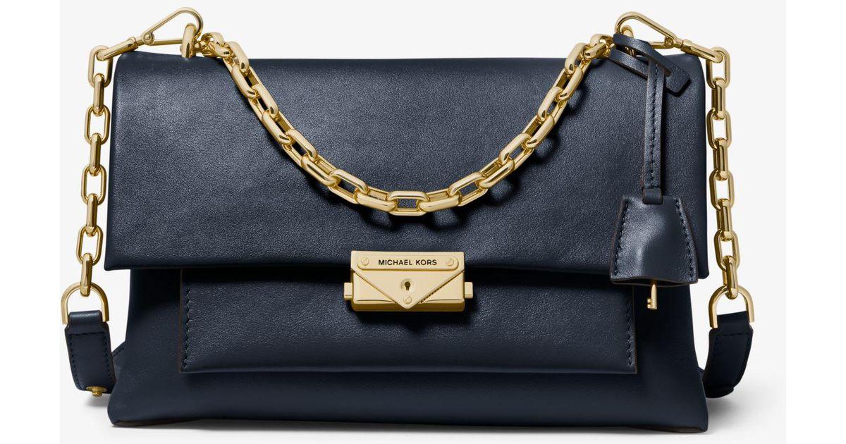 f8c357173565 Lyst - Michael Kors Cece Large Leather Shoulder Bag