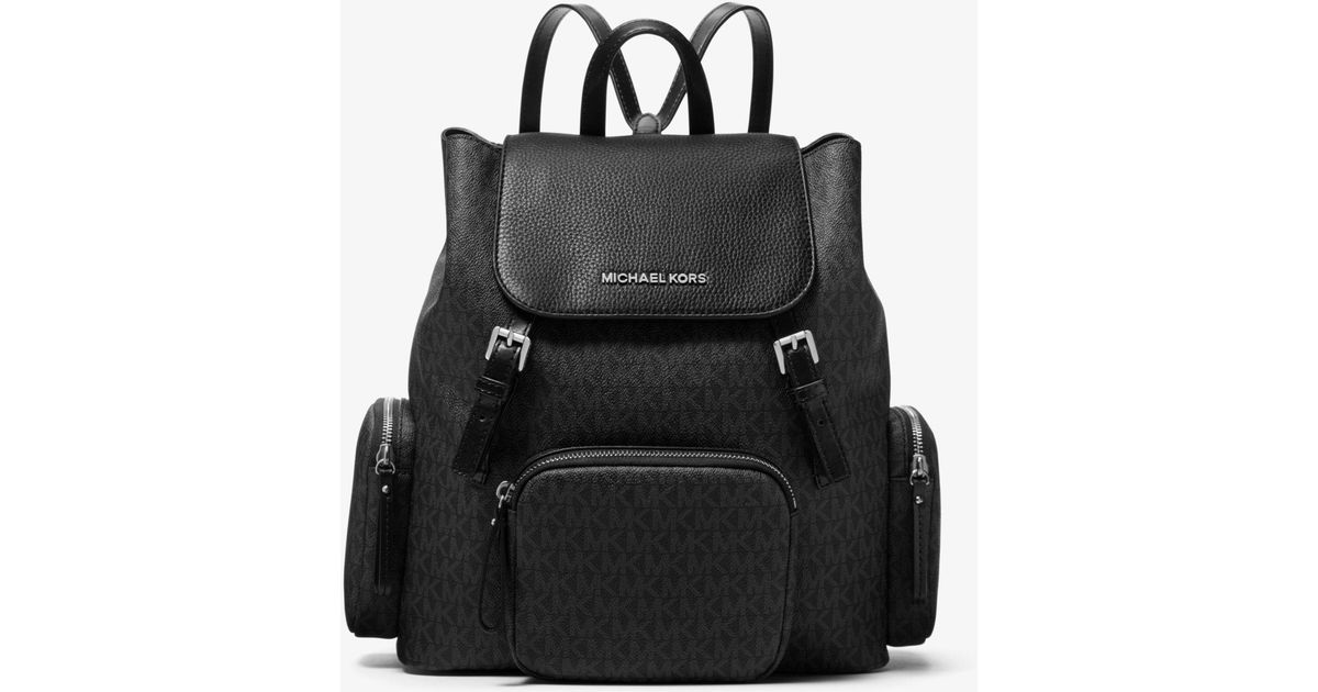 e07b452cb85e Lyst - Michael Kors Abbey Large Logo Cargo Backpack in Black