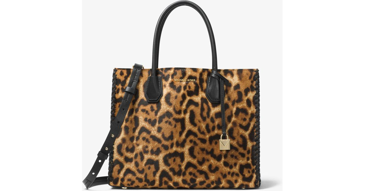michael kors purse leopard
