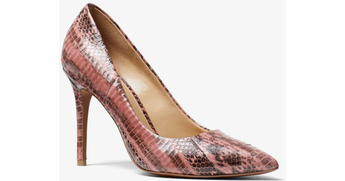 Michael Kors Synthetic Claire Snakeskin