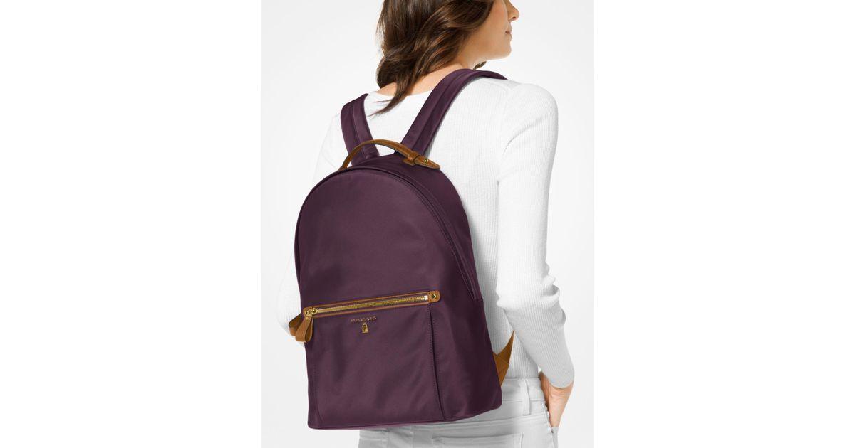 d20eade193e9 ... reduced michael kors kelsey nylon backpack in purple lyst 58f38 8dc89