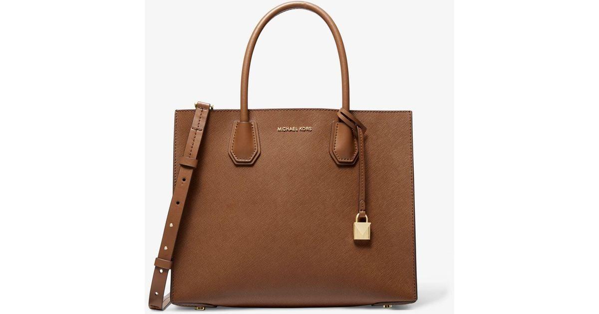 Michael Kors Brown Mercer Large Saffiano Leather Tote Bag