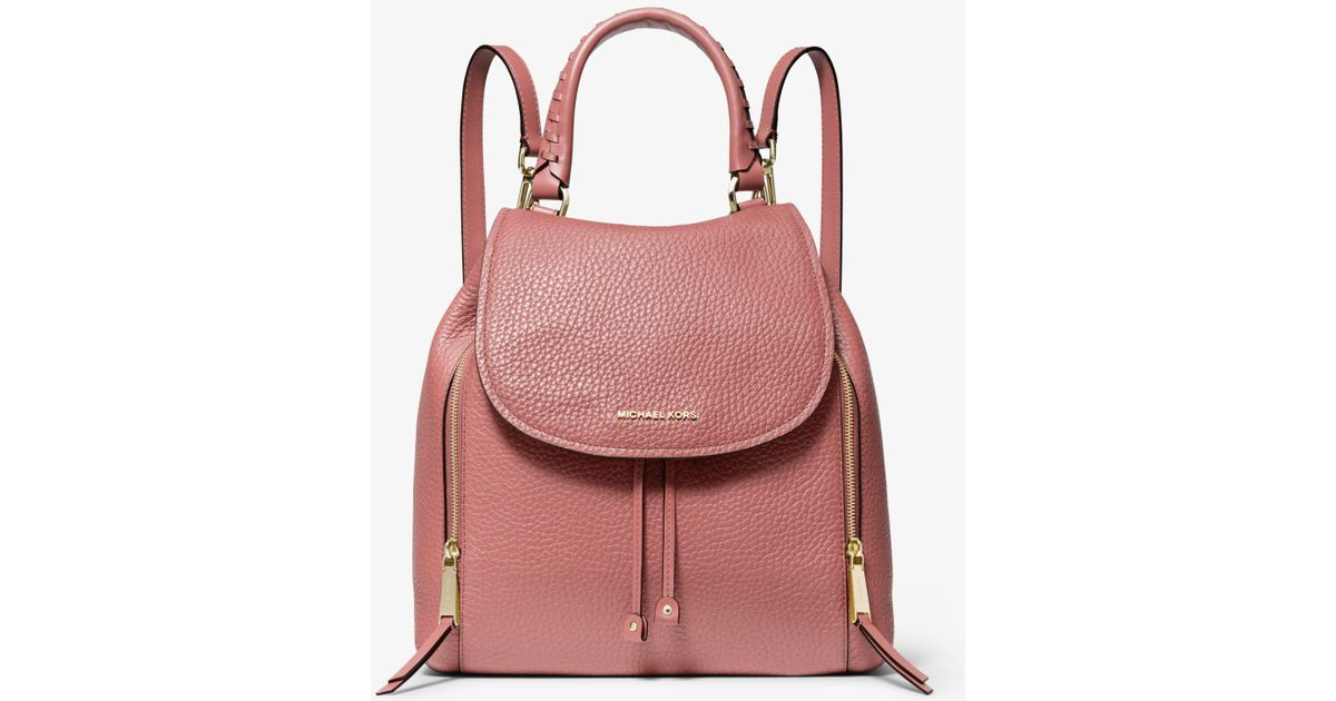 42c41b0d32a8 Lyst - MICHAEL Michael Kors Viv Large Pebbled Leather Backpack in Pink