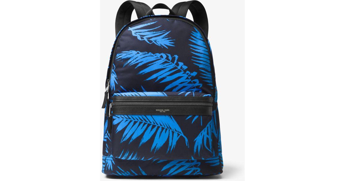 ebbf8115197465 Michael Kors Kent Palm Nylon Backpack in Blue for Men - Lyst