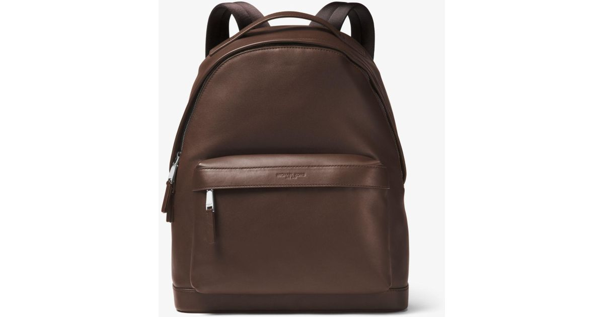 a515371089cc Lyst - Michael Kors Odin Leather Backpack in Brown for Men