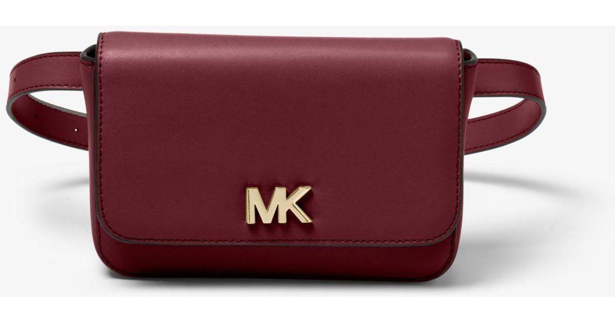 4579e45bd59b Lyst - Michael Kors Mott Leather Belt Bag