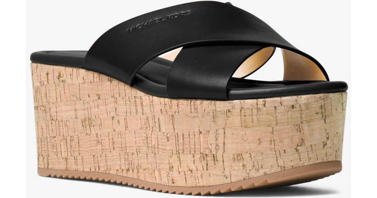 Michael Kors Vivianna Leather Platform