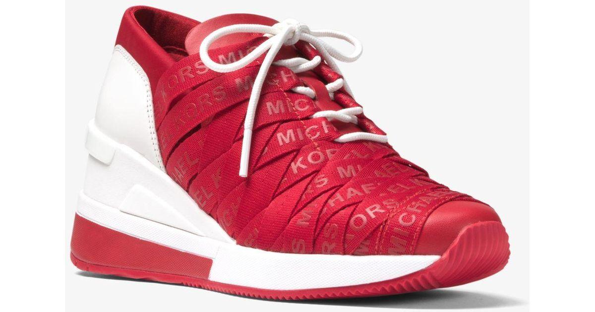 Leather Cydney Logo Webbed Sneaker
