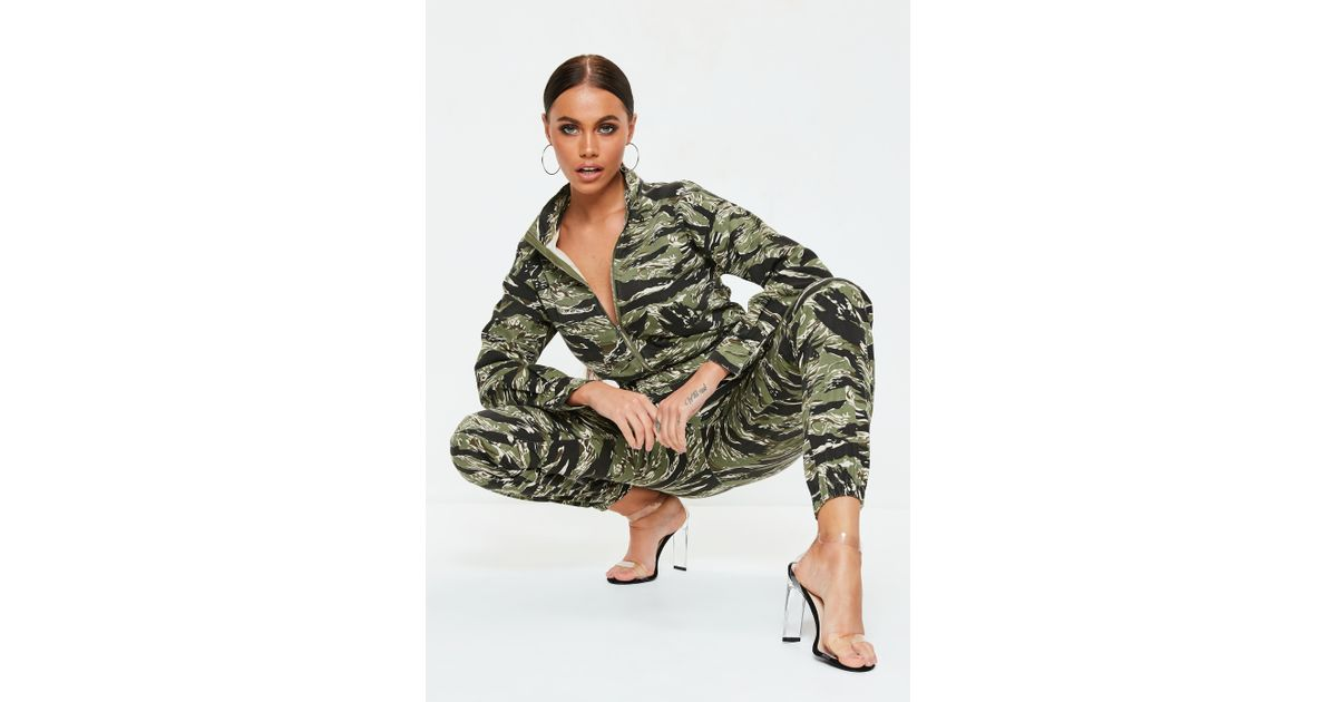 dc8c6c62ca5 Lyst - Missguided Green Camo Utility Jumpsuit in Green