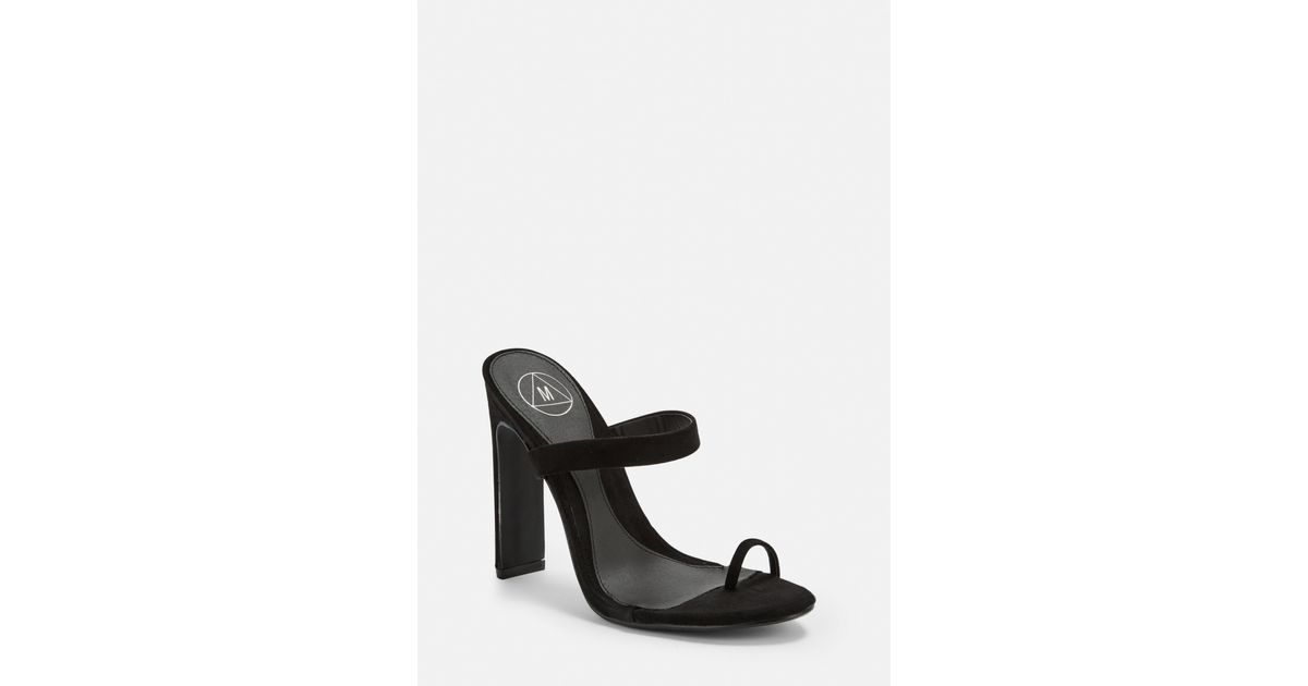 Missguided Black Toe Post Mules - Lyst