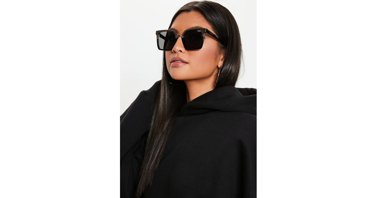 873993f3b2bc Lyst - Missguided Quay Australia X Jaclyn Hill Upgrade Black Gold Sunglasses  in Black