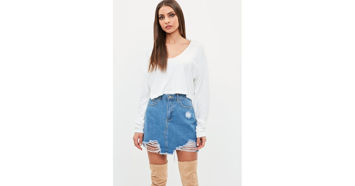 bbd052fc230b2 Lyst - Missguided White Lounge Fluffy Crop Top in White