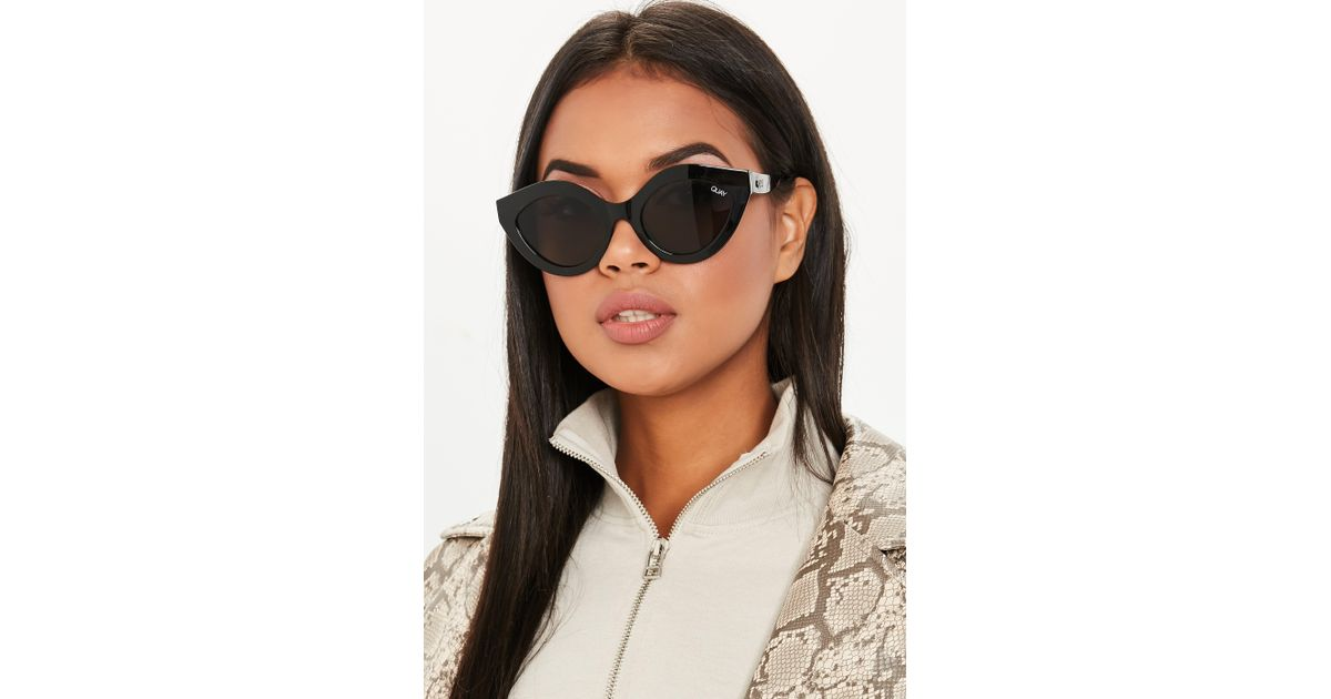 6e87eb0c12f Lyst - Missguided Quay Australia Good Night Kiss Black Sunglasses in Black