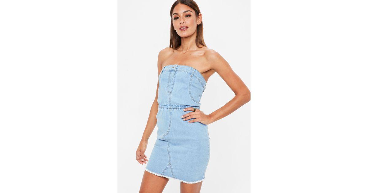 Denim Strapless Mini Dress