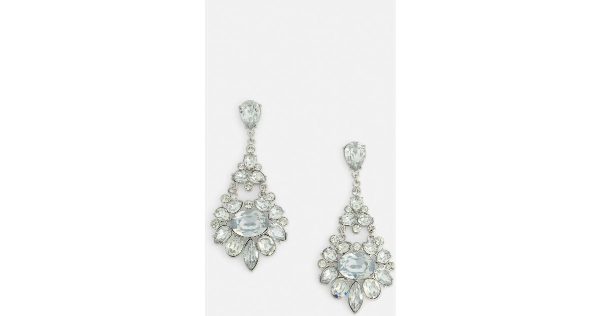 dazzling com tear drop dp crystal in amazon teardrop earrings diamante silver x