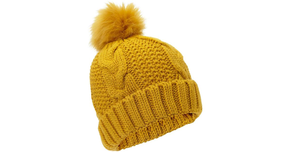 f40a0ed3b Miss Selfridge Yellow Ochre Chunky Hat