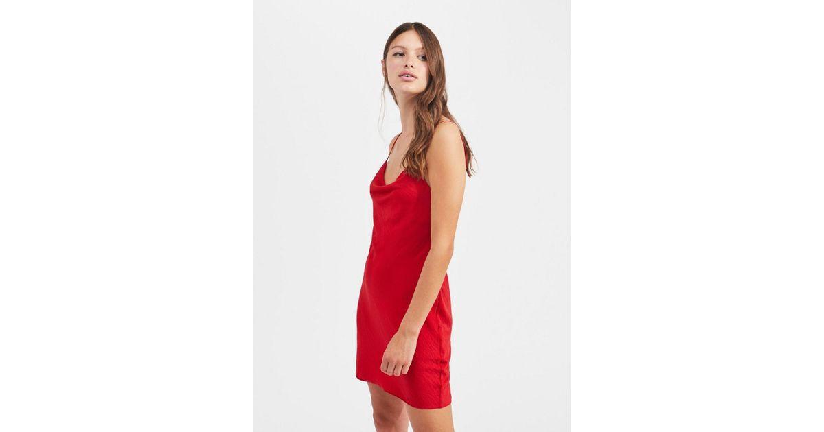 on wholesale buy popular shop best sellers Miss Selfridge Synthetic Red Cowl Mini Slip Dress - Lyst