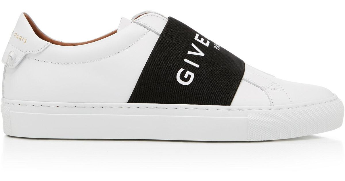 Sneakers smooth leather Logo blue white Givenchy iSVHE5u