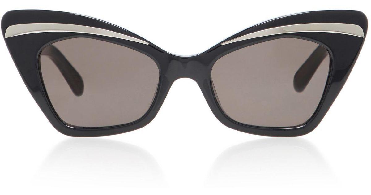 e76c883039f Lyst - Karen Walker Babou Cat-eye Sunglasses in Black