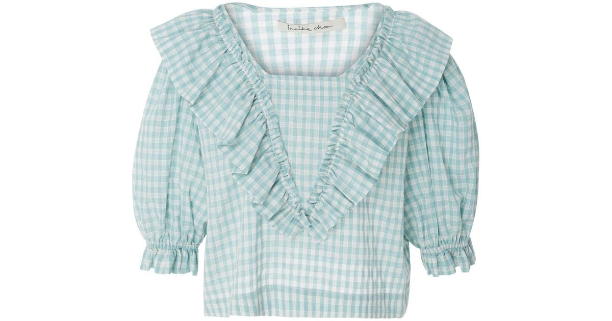 New Online Ruffled Cotton Blouse Innika Choo Free Shipping Excellent Huge Range Of Discount Find Great EXTHhDDK