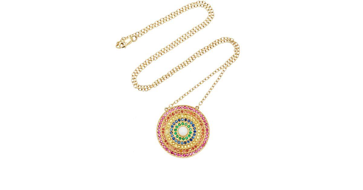 e02a79fd5 Andrea Fohrman Double Rainbow Pendant Necklace in Metallic - Lyst