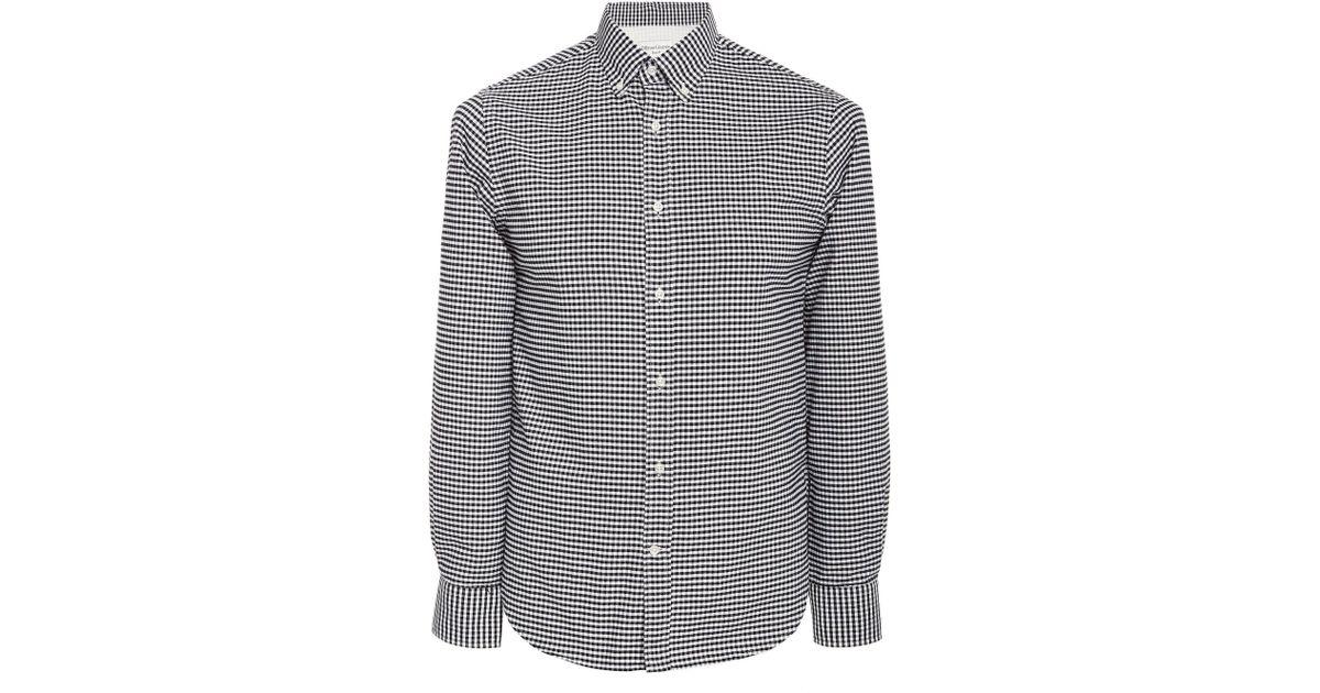 Lyst Officine Generale Antime No Pocket Oxford Shirt In Black For Men