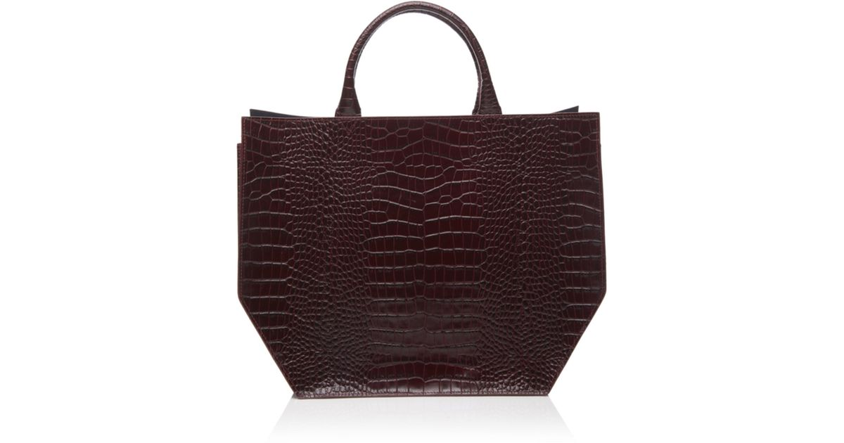 Trademark Crocodile Embossed Collapsible Tote 5SrJ7