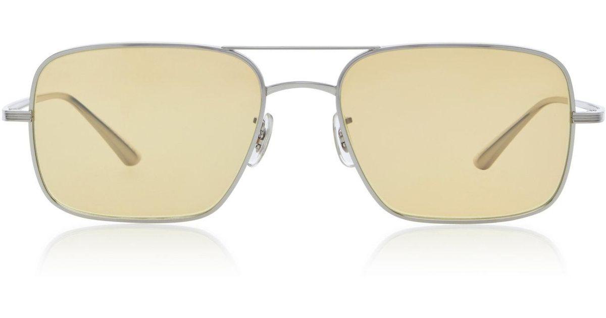 301356da5b3 Lyst - Oliver Peoples Victory La Square Sunglasses in Metallic for Men