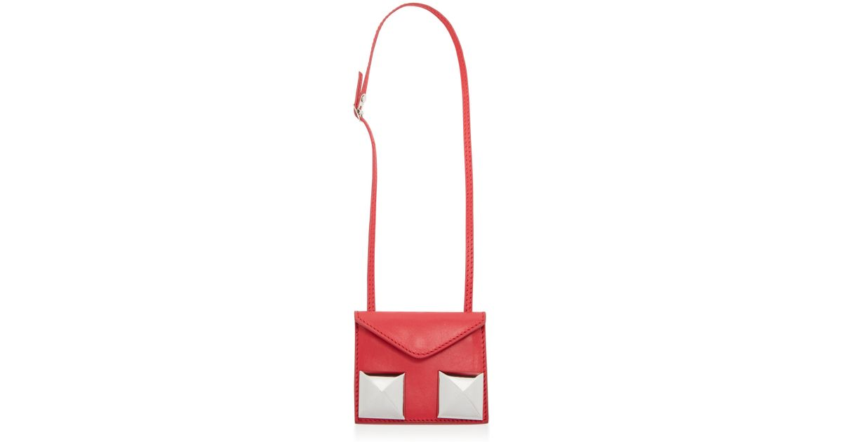 b823305f144 Giambattista Valli Mot D'amour Double-studded Belt Bag in Red - Lyst